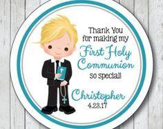 Primera comunión de pegatinas. Personalizadas primera comunión Favor Tags o etiquetas, etiquetas engomadas de gracias de la comunión
