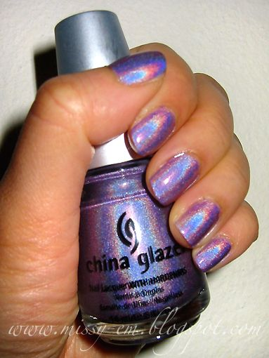 """Purple Hologram"" It's so reflective that it appears almost rainbow-y! Comes in several different colors I really need this!"