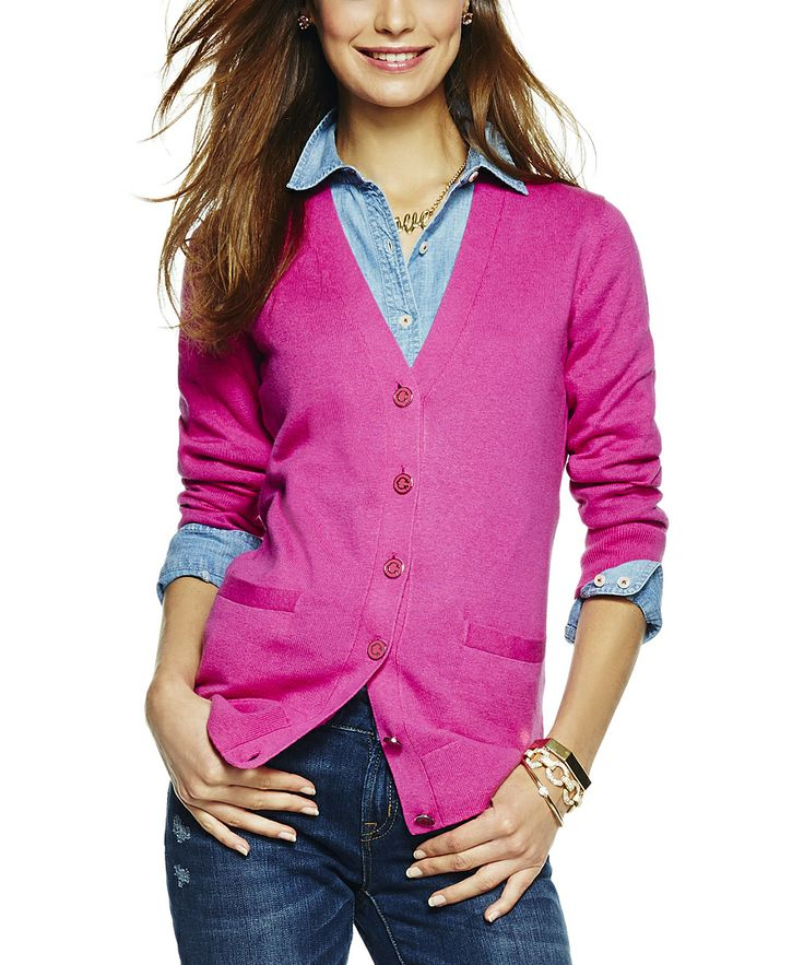 Pink Tourmaline V-Neck Cardigan | Daily deals for moms, babies and kids