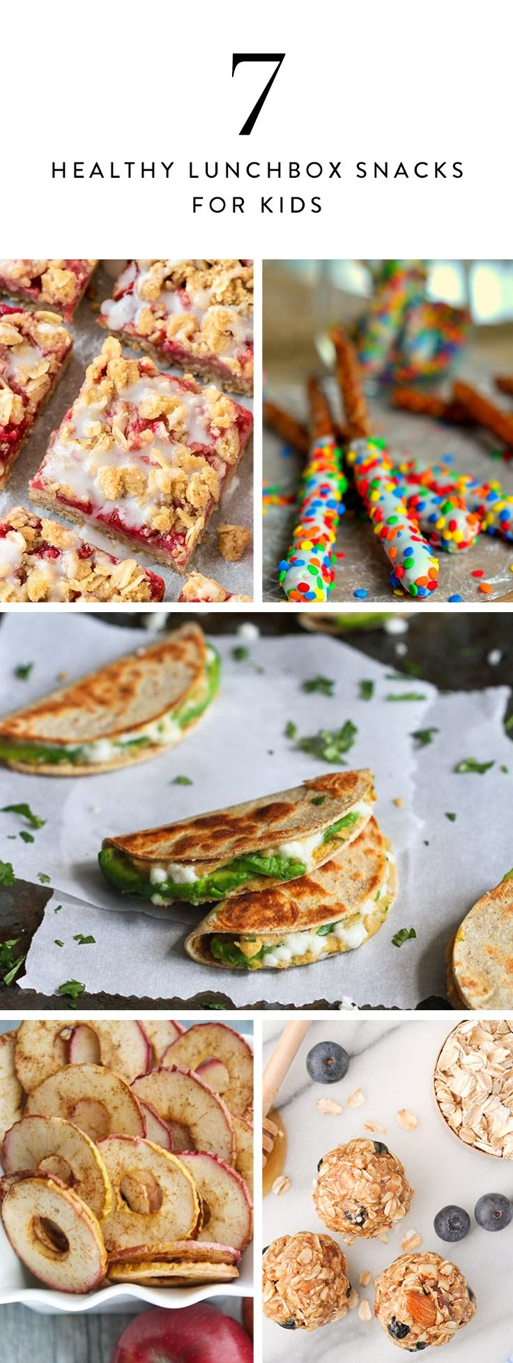 Add these homemade (and healthy) snacks to your kid's lunchbox. And make some extra for yourself, of course.
