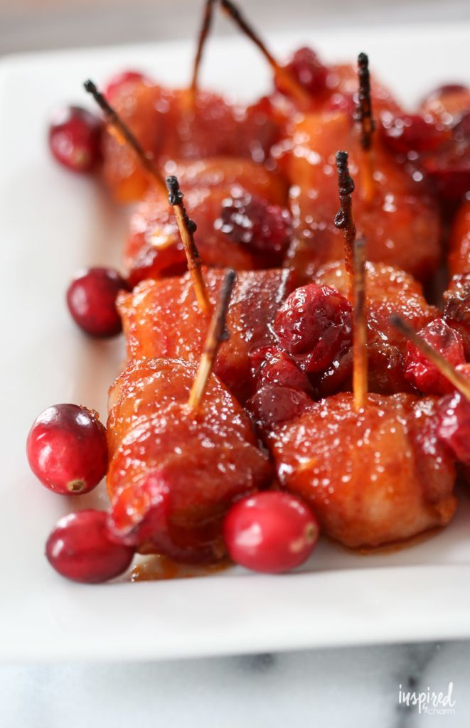 These Cranberry Bacon Wrapped Water Chestnuts make the perfect