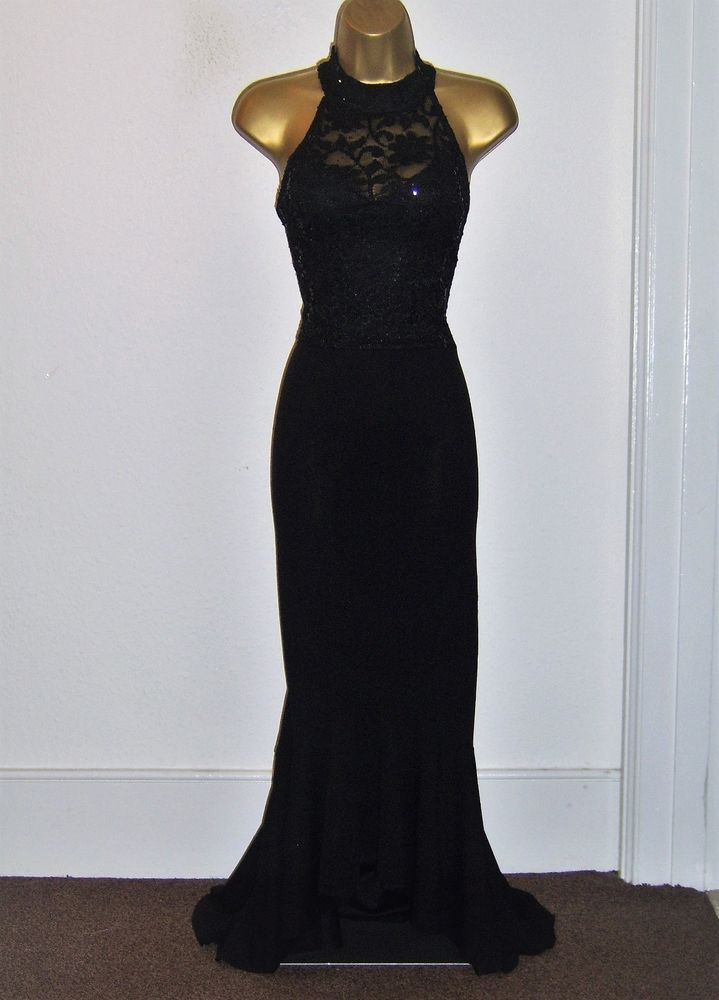 Quiz Fab Black Lace Sequin Design High Low Maxi Evening Party Dress Size 14 Fashion Clothing Shoes Access Evening Party Dress Dresses Occasion Maxi Dresses