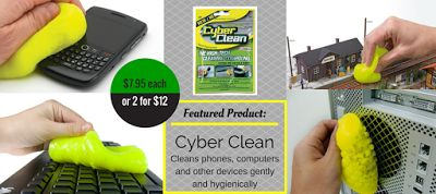 Cyber Clean $7.95 each or 2 for $12 - Every home should have one of these for cleaning all your technical gadgets... http://www.mrgift.com.au/gadgets/cyber-clean-high-tech-cleaning-compound #gadgets #cyberclean #cleaning