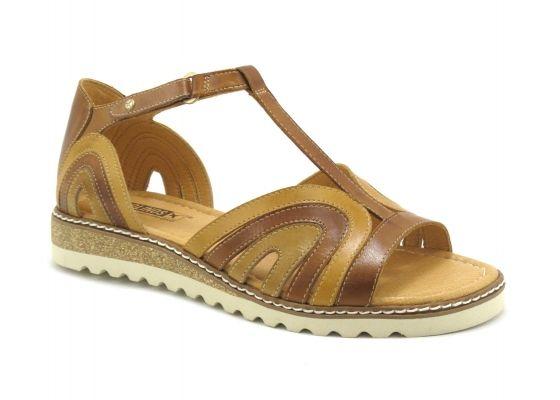 Achat chaussures Pikolinos Femme Nu-pieds, vente Pikolinos Alcudia W1L-0859 Brandy Nu-pieds