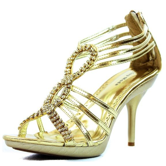 Prom shoes | under 20 awesome silver rhinestone gold high heel prom shoes 2013
