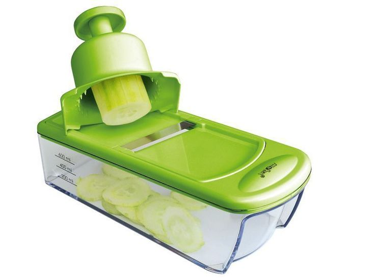 Moha Mandolinetta Slicer (Green) is made in Switzerland. Perfect for slicing and grating vegetables for salads.   Comes with 4 cutters; Slices, Grater Course, Grater Bircher, Cheese Grater. Compact cutting and grating plane, with residue holder. Shop Here: http://shop.rawblend.com.au/moha-mandolinetta-slicer-green/