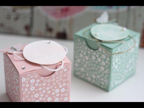 Anleitung: Verpackung für ein Mini-Glas Nuß-Nougat-Creme | Stampin' Up! - YouTube