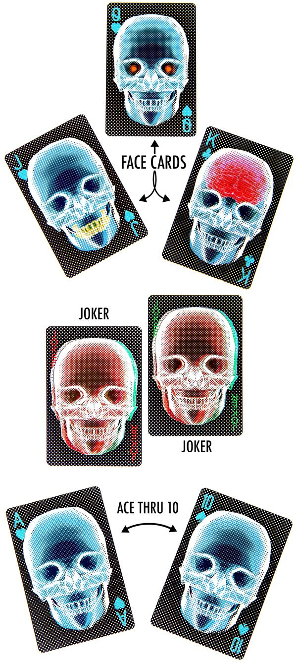 X-Ray Deck of Playing Cards: Deceptively Translucent
