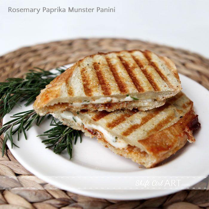 Fresh rosemary-paprika-Munster-cheese-panini