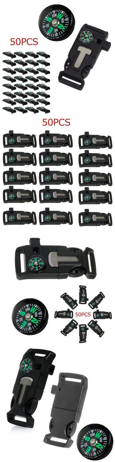 Paracord Bracelets 181413: 50X New Side Buckle Whistle Compass Flint Fire Starter Scaper Paracord Bracelet -> BUY IT NOW ONLY: $31.54 on eBay!