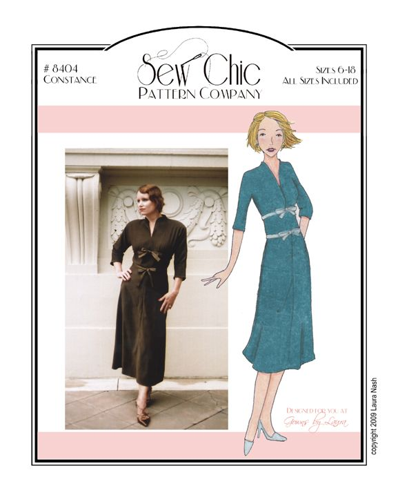 Constance Dress Sewing Pattern by Sew Chic Patterns