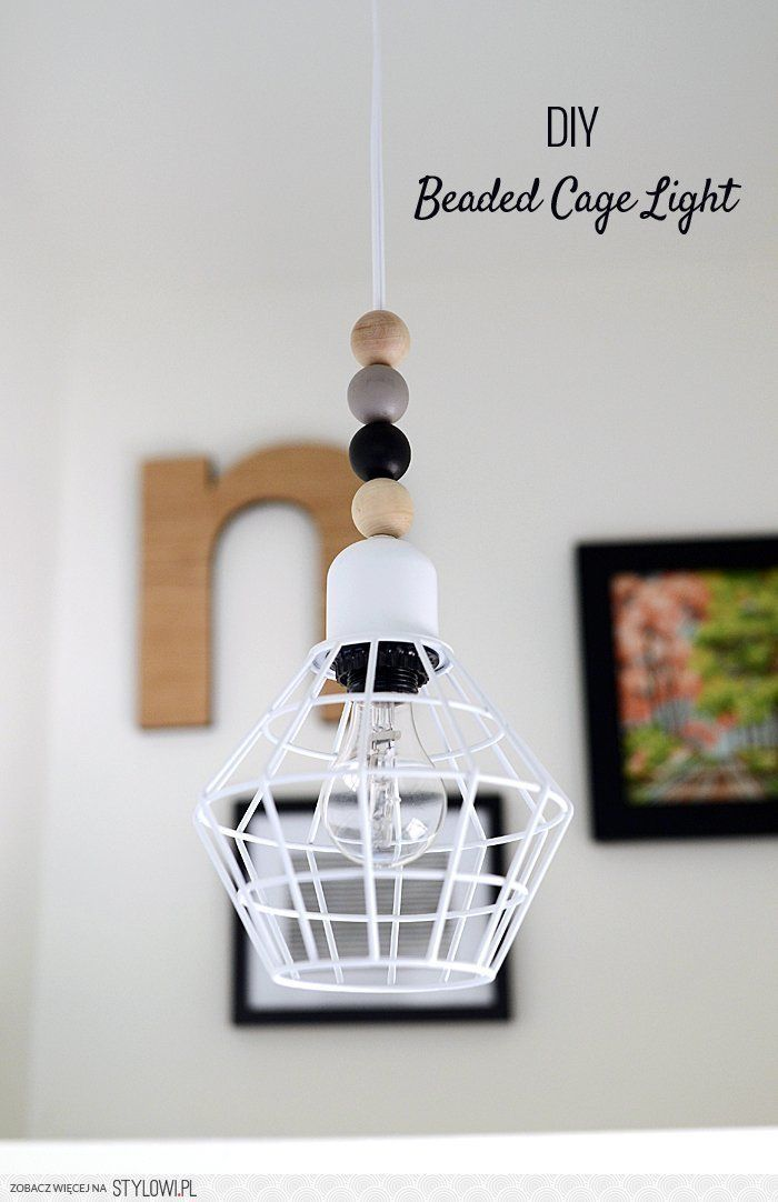 Nalle's House: DIY Beaded Cage Light na Stylowi.pl