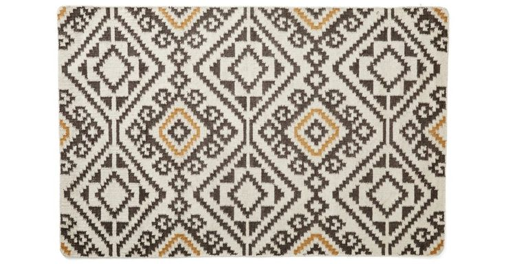 This handmade flat-weave takes inspiration from a Mediterranean tile pattern. A rug pad is recommended to keep this securely in place.