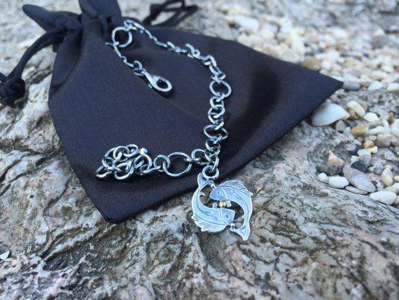 Pisces chain bracelet  Sterling silver bracelet by NPSilverStudio