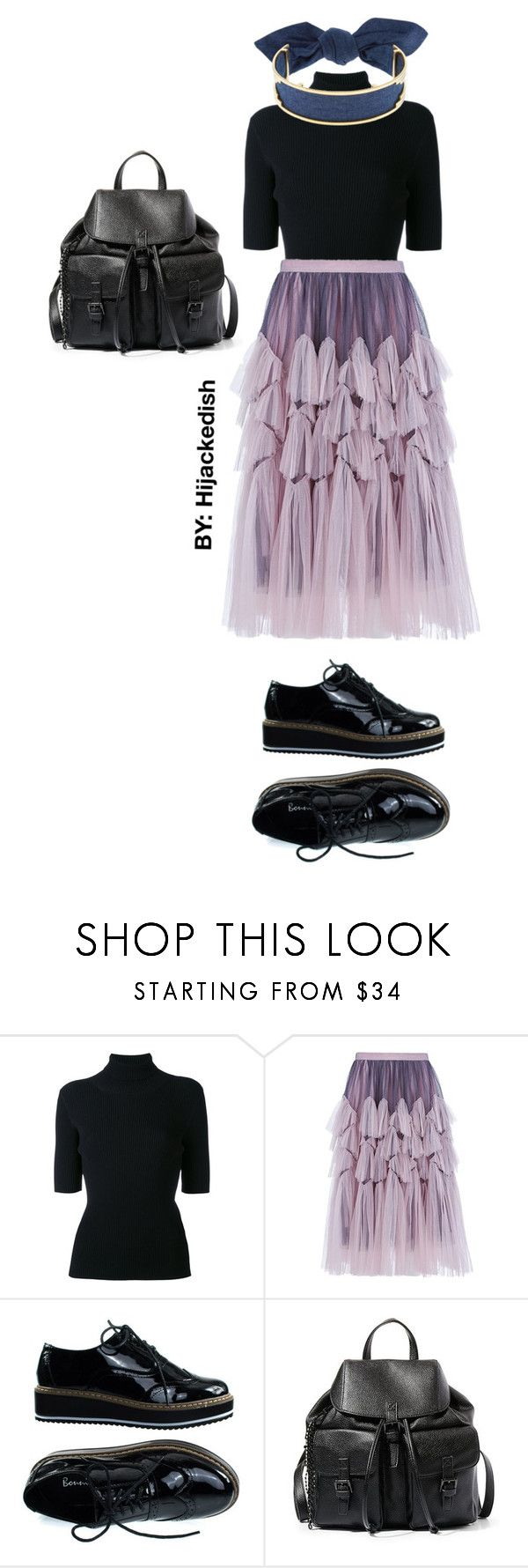 """""""Lilac ruffle clouds"""" by hijackedish on Polyvore featuring Valentino, Dries Van Noten, Steve Madden and Monica Sordo"""