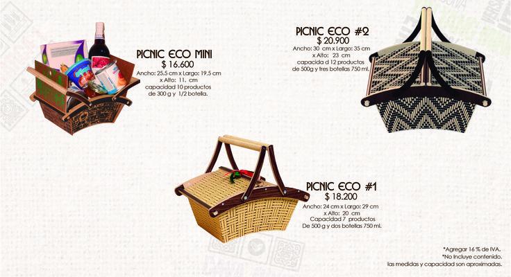canastas para picnic elaboradas en madera ecológica con diferente estampado