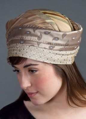 Wow!! This is something new! Recycle ties into a funkey, hip hat