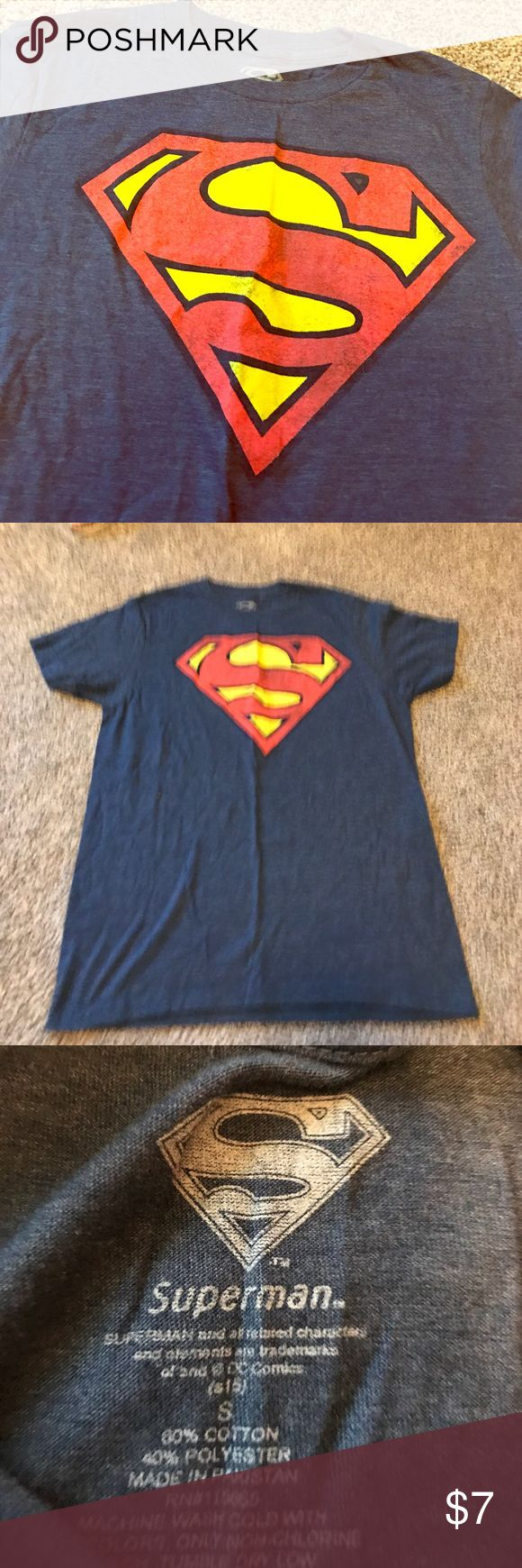 Super man Tshirt Superman Tee - only worn once for school spirit day! Perfect condition Tops Tees - Short Sleeve