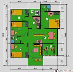 Contoh-Denah-Rumah-Mewah-1-Lantai-4-Kamar-Tidur.jpg (762×755)