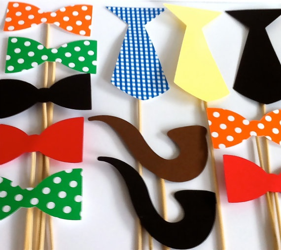Photo Booth Props The Gentlemen's Party Pack Wedding Photo Booth Props Set of 12 Party Photo Props Party Decorations Party Supplies Bow Tie. $16.95, via Etsy.