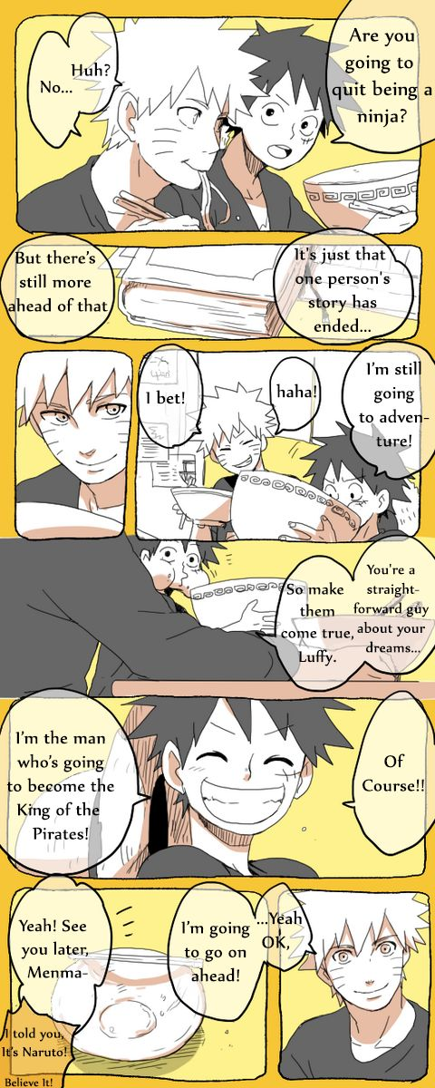 Luffy and Naruto talk about the end of Naruto! (read right to left)