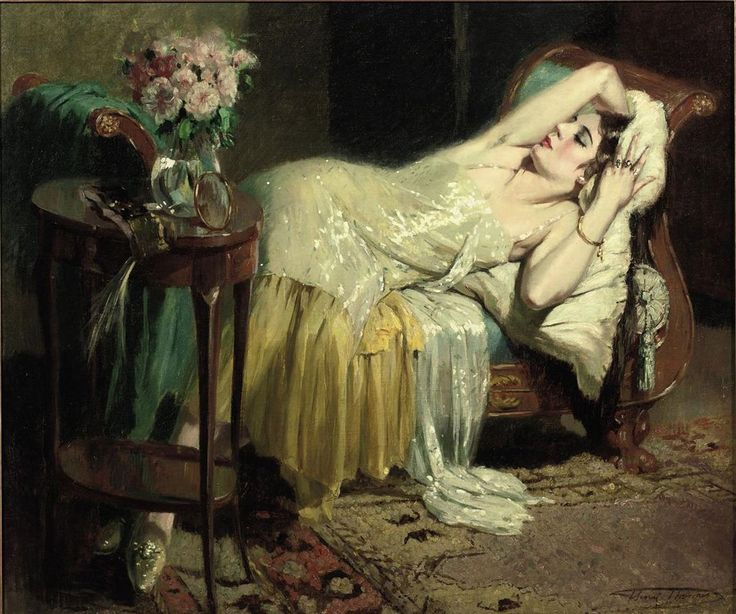 """""""After a Night Out"""" by Henri Joseph Thomas. (1878 - 1972)"""