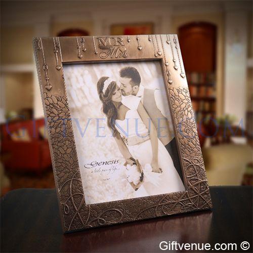 Genesis Bronze Mr & Mrs Wedding Frame