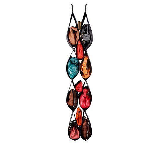 Ideia de organizador de armário para costurar! Organizador de bolsas ou sapatos.