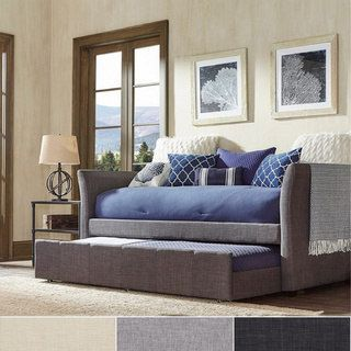 Shop for Deco Linen Rolled Arm Daybed and Trundle by iNSPIRE Q Bold. Get free delivery at Overstock.com - Your Online Furniture Outlet Store! Get 5% in rewards with Club O! - 15561045
