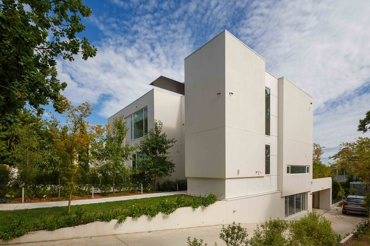 modern architecture, aging-in-place, multiple dwellings in one.  By Collins Caddaye Architects, Canberra.  Photographed by Stefan Postles, Chalk Studio.
