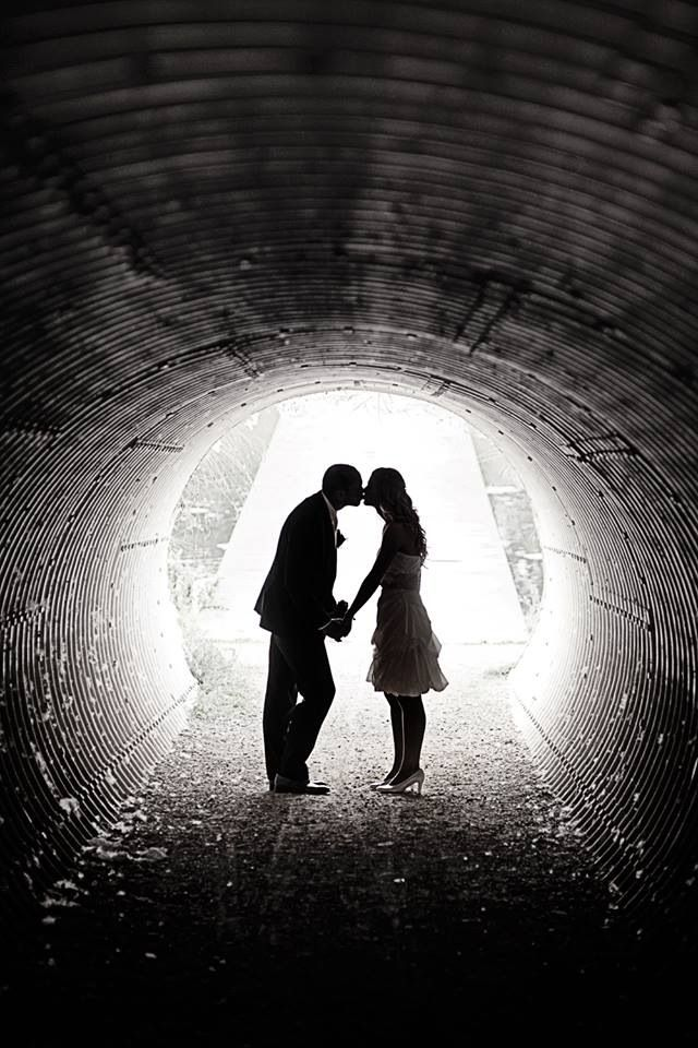 Tunnel vision... © www.ruudC.nl Wedding photography - bride and groom - trouwreportage - bruidsreportage - trouwfotograaf - bruidsfotograaf - urbex - black and white - b