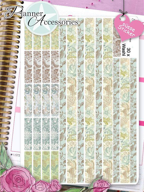 Sticker Washi Tape Erin Condren Happy Planner von EmelysPlannerShop