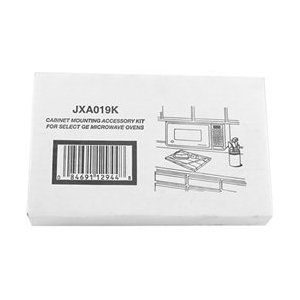 "GE JXA019K Undercabinet Microwave Mounting Kit with Mini Tool Box (cog) by General Electric. $49.00. GE Undercabinet Microwave Mounting Kit JXA019K   Comes with Mini Tool Box. Great for storing any miscellaneous items or your spare change.  Overall dimensions: 4 1/2"" x 2 1/2"" x 2 3/4"".  Mini Tool Box is shipped from a separate warehouse and will arrive within a few days of your order."