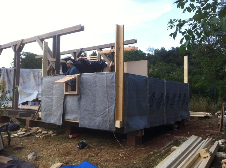 ecovastudesign / Modular Building - Rovinjsko Selo / wall framing construction