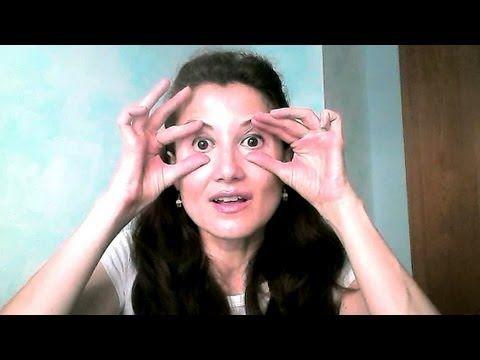 GIMNASIA FACIAL - Alisar Arrugas en el Párpado inferior y Reducir Ojeras - YouTube