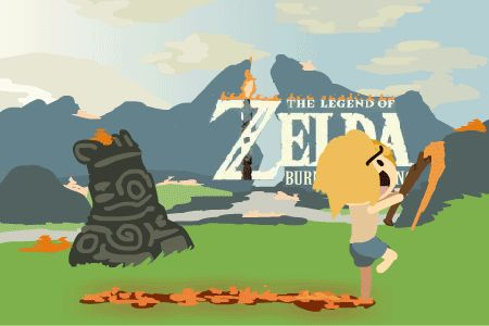 """asarge: """" In the new Zelda game, The Legend of Zelda: Breath of the Wild Fire you play as a shirtless pyromaniac who has finally escaped from his cave. He had been locked away in hibernation but some madman unleashed him onto the world where he burns..."""