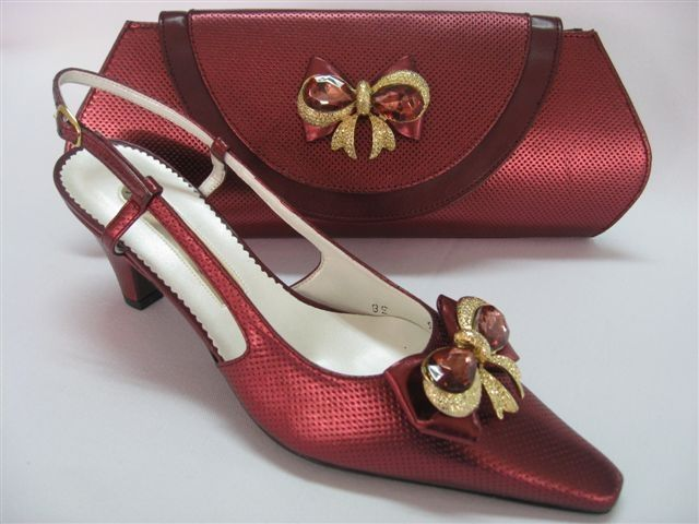 Ladies Shoes And Matching Clutch Bags