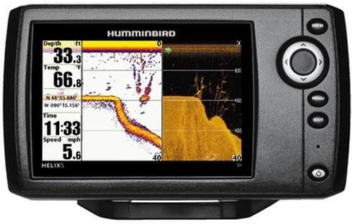 SONDEUR / GPS COULEUR HUMMINBIRD HELIX 5 DI AVEC SONDE TA