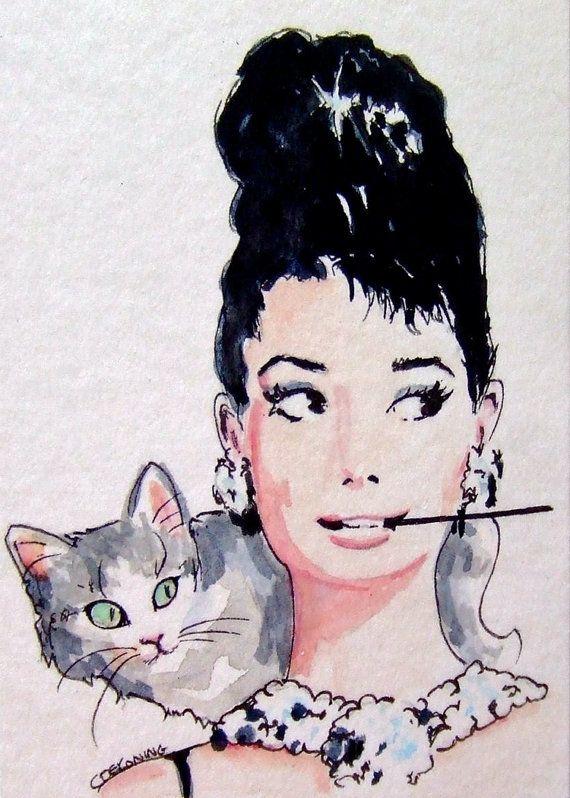 Audrey Hepburn holly golightly digital file by ChristyObalek