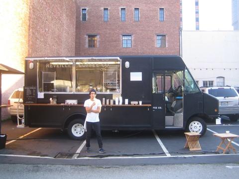 Minimalist Walk Up Coffee Truck - Reveille Truck