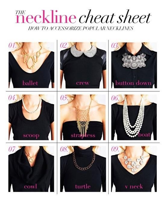 Match the necklace with the neckline