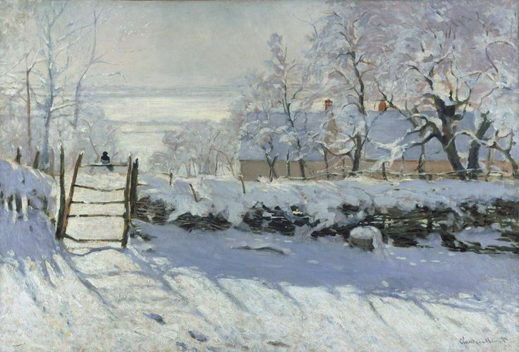 "Claude Monet, ""The Magpie,"" ca. 1868-1869."