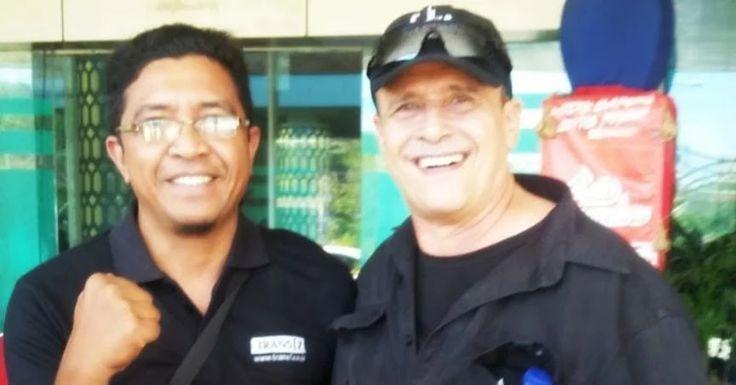 Foto Barry Prima saat berlibur di Labuan Bajo