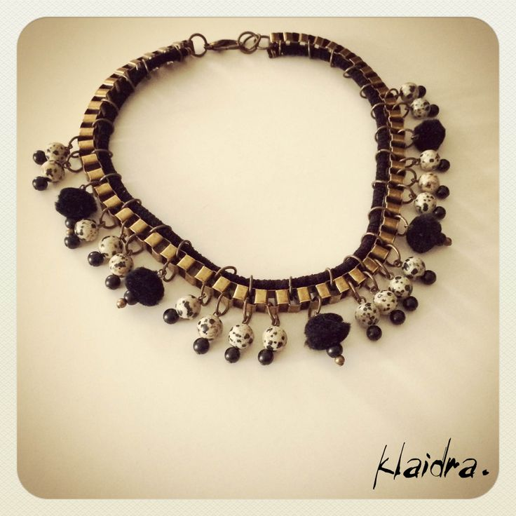 *japanese* pom pom necklace #klaidra #fw15 #newdesigns #designers #jewelry #handmade #bohemian #ethnic #gypsy #fashion #greekdesigners #klaidrajewelry #pompom #beaded #necklace #japanese #instastyle #instafashion #boho
