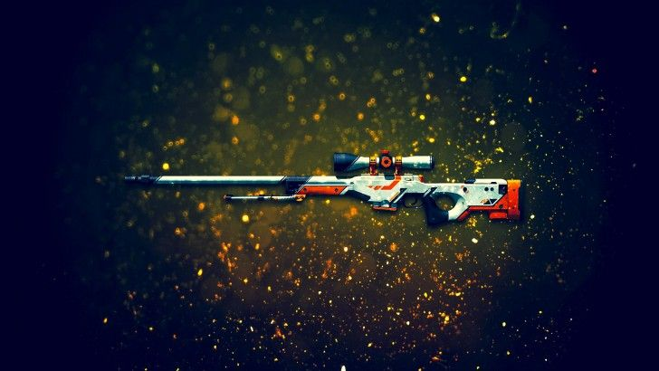 Download AWP Sniper Rifle Asiimov CSGO Skin 1920x1200