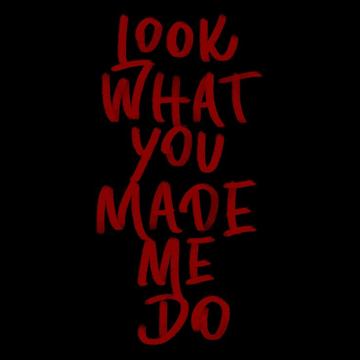 Look What You Made Me Do / Taylor Swift / Reputation / Hand Lettering / Digital Lettering / Photoshop Lettering / Brush Lettering by Rayane Alvim