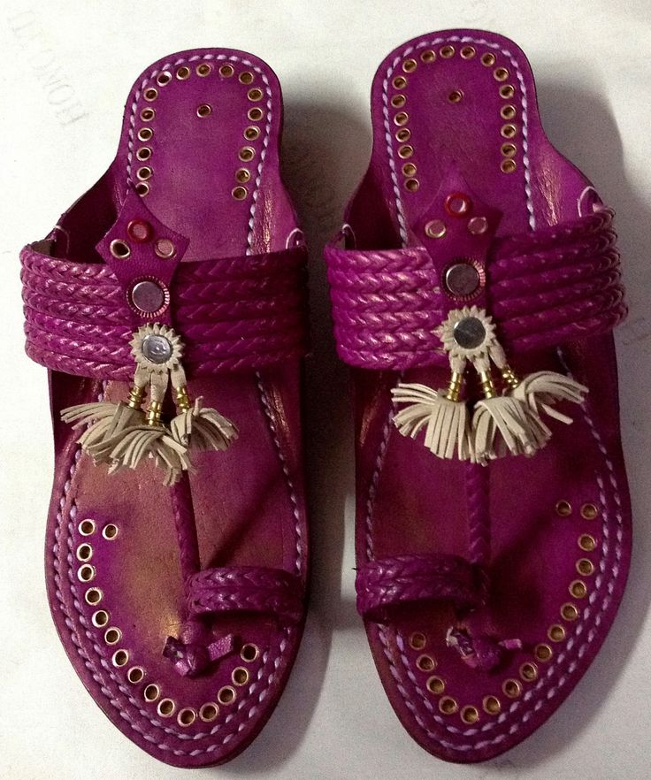 Pink Leather sandal made from original leather