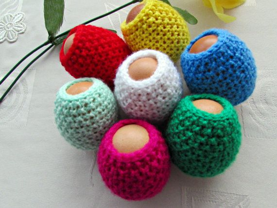 Set of 7 Egg Cozy Easter Egg Cover Easter Decorations