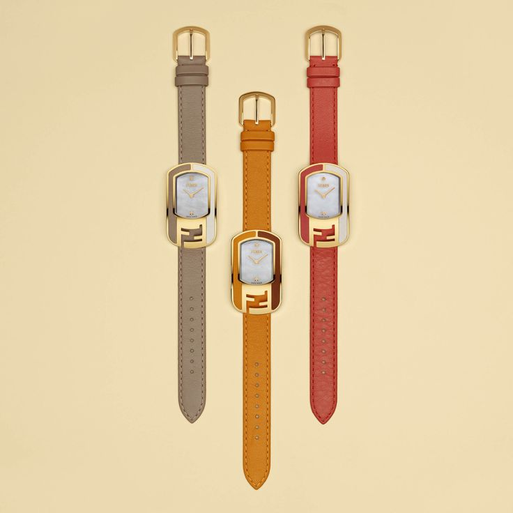 The Fendi Timepieces Chameleon collection is alluring and elegant. The curved design and array of lustrous colored enamel inserts or shimmering diamonds make the collection irresistible.
