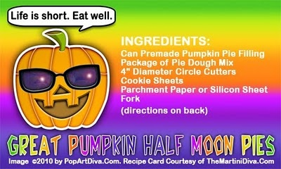 GREAT PUMPKIN HALF MOON PIES - #Halloween Munchies. Click image for the FULL #RECIPE, Instructions & Halloween Tips!